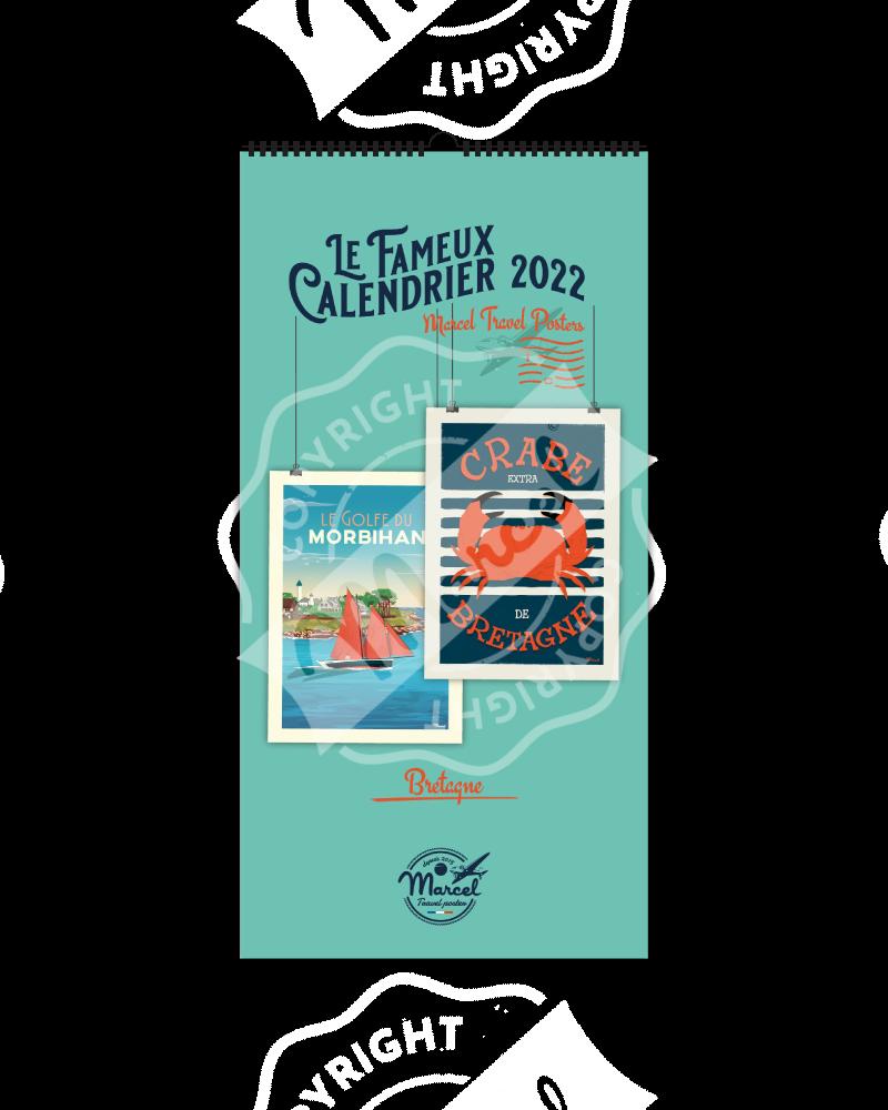 CALENDRIER Bretagne MARCEL 2022