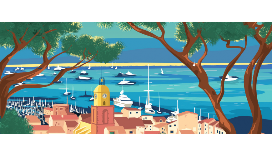 Vintage posters of Provence, Retro posters of the French Riviera's most gorgeous places — Marcel Travel Posters