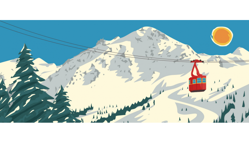 Vintage posters of the Alps — Marcel Travel Posters